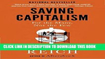 New Book Saving Capitalism: For the Many, Not the Few