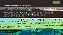 New Book Parry s Valuation and Investment Tables