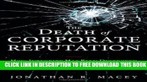 New Book The Death of Corporate Reputation: How Integrity Has Been Destroyed on Wall Street