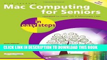New Book Mac Computing for Seniors in easy steps: Covers OS X Mountain Lion