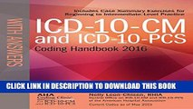 New Book ICD-10-CM and ICD-10-PCS Coding Handbook, with Answers, 2016 Rev. Ed.