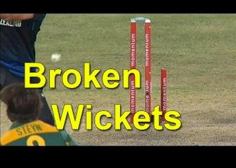 Bowlers Who Broke's Cricket Wickets In ToTwo Pieces Broken Wickets