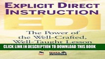 New Book Explicit Direct Instruction (EDI): The Power of the Well-Crafted, Well-Taught Lesson