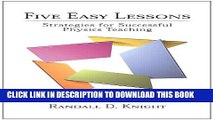 New Book Five Easy Lessons: Strategies for Successful Physics Teaching