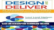 New Book Design and Deliver: Planning and Teaching Using Universal Design for Learning