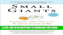 Collection Book Small Giants: Companies That Choose to Be Great Instead of Big
