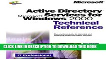 [PDF] Active Directory Services for Microsoft Windows 2000 Technical Reference (Microsoft