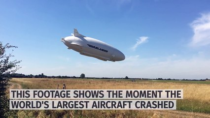 World's largest aircraft Airlander 10 crashes during test flight