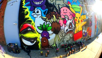 INSANE Pokemon Go Wall Art (151 first gen Pokemon)