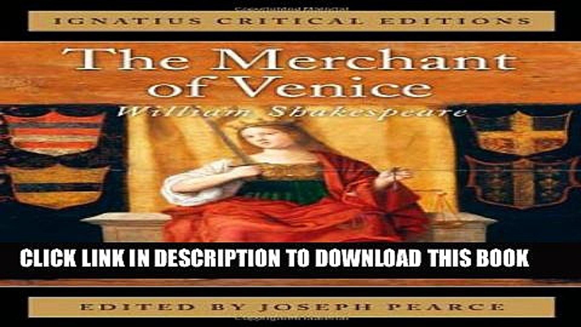 Collection Book The Merchant of Venice: Ignatius Critical Editions