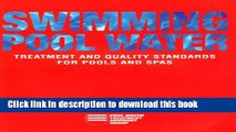 PDF Swimming Pool Water: Treatment and Quality Standards for Pools and Spas  Ebook Online