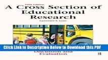[Read] A Cross Section of Educational Research: Journal Articles for Discussion and Evaluation