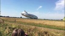 Accident pour le plus gros aéronef au monde