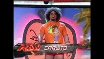 Johnny Nitro (w/ Melina) vs. Shelton Benjamin vs. Carlito