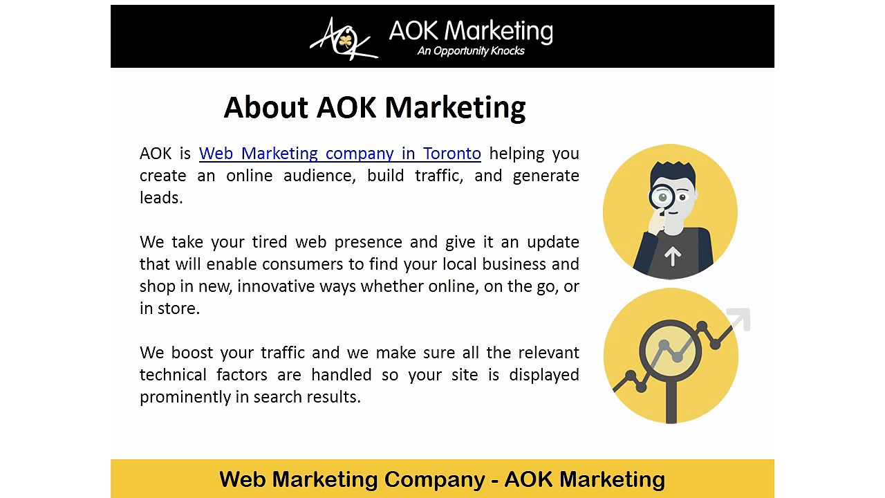 Web Marketing Company in Toronto – AOK Marketing