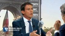 """Valls: """"les propositions de Nicolas Sarkozy sont brutales et inquiétantes"""""""