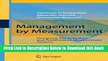 [Reads] Management by Measurement: Designing Key Indicators and Performance Measurement Systems