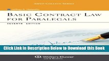 [Reads] Basic Contract Law for Paralegals, Seventh Edition (Aspen College) Free Books