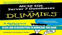New Book McSe SQL Server 7 Database Design for Dummies