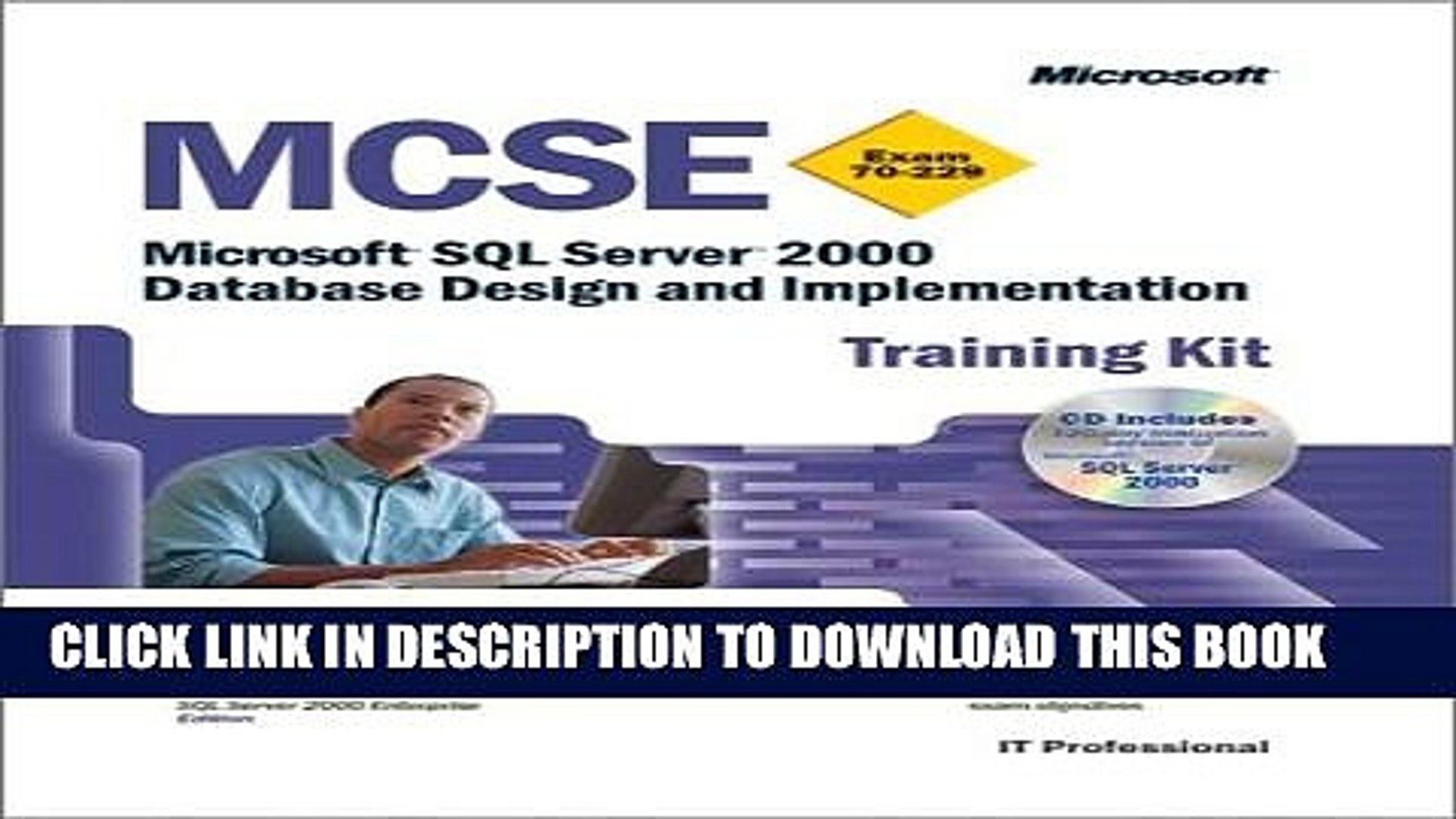 Collection Book MCSE Training Kit (Exam 70-229): Microsoft SQL Server(tm) 2000 Database Design and
