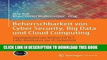 New Book Beherrschbarkeit von Cyber Security, Big Data und Cloud Computing: Tagungsband zur
