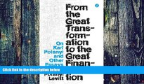 Must Have  From the Great Transformation to the Great Financialization: On Karl Polanyi and Other