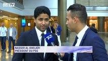 """Nasser Al-Khelaïfi : """"On veut essayer d'aller le plus loin, ça veut dire minimum demi-finale"""""""
