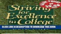 Collection Book Striving for Excellence in College: Tips for Active Learning