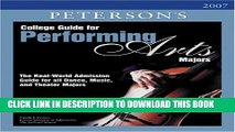 New Book College Guide for Performing Arts Majors 2007 (Peterson s College Guide for Performing