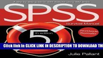New Book SPSS Survival Manual: A Step by Step Guide to Data Analysis Using IBM Spss