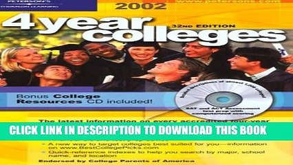New Book Four Year Colleges 2002, Guide to (Peterson s Four Year Colleges, 2002)