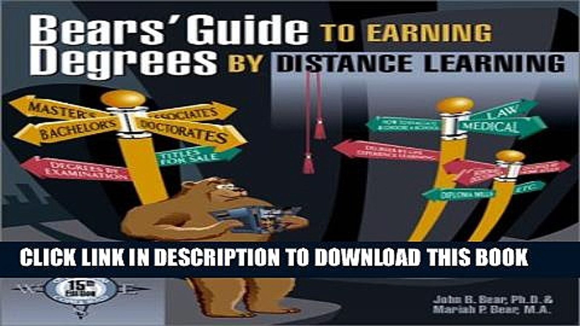Collection Book Bears  Guide to Earning Degrees by Distance Learning