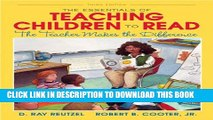 Collection Book The Essentials of Teaching Children to Read: The Teacher Makes the Difference (3rd