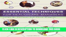 [PDF] Essential Techniques for Healthcare Managers Popular Online