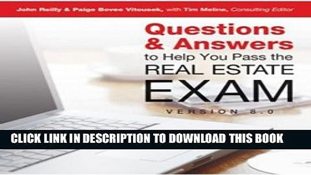 [Download] Questions Answers to Help You to Pass the Real Estate Exam  (Dearborn Education)