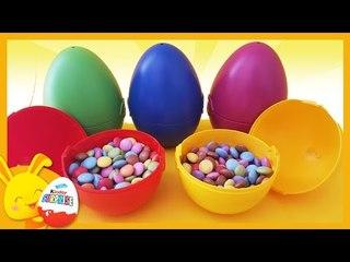 Oeufs surprises et petits bonbons Smarties - JEUX jouets cachés - pour enfants - Touni Toys