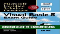 Collection Book MCSD Visual Basic 5 Exam Guide (Covers Exam #70-165)