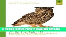[PDF] Wildlife, Forests and Forestry: Principles of Managing Forests for Biological Diversity (2nd