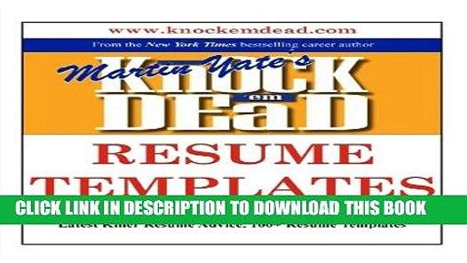 pdf  knock em dead resume templates  plus 110 resume