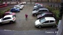 Un demi-tour tellement foireux sur un parking