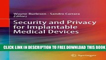 Collection Book Security and Privacy for Implantable Medical Devices
