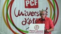 Université d'été des communistes - Discours de Pierre Laurent