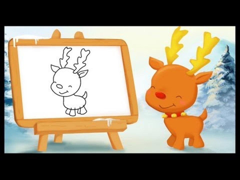 Apprendre A Dessiner Sur Le Theme De Noel Le Renne Video