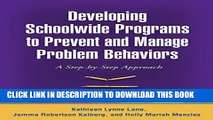 New Book Developing Schoolwide Programs to Prevent and Manage Problem Behaviors: A Step-by-Step