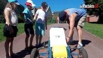 Course de caisse à savons : derniers préparatifs à Chiry-Ourscamp