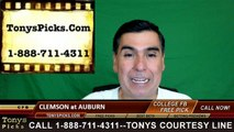 Auburn Tigers vs. Clemson Tigers Free Pick Prediction NCAA College Football Odds Preview 9-3-2016