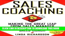 New Book Sales Coaching: Making the Great Leap from Sales Manager to Sales Coach