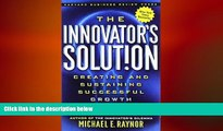READ book  The Innovator s Solution: Creating and Sustaining Successful Growth  FREE BOOOK ONLINE