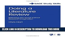 Collection Book Doing a Literature Review: Releasing the Social Science Research Imagination (SAGE