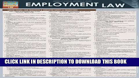 Collection Book Employment Law (Quick Study: Law)